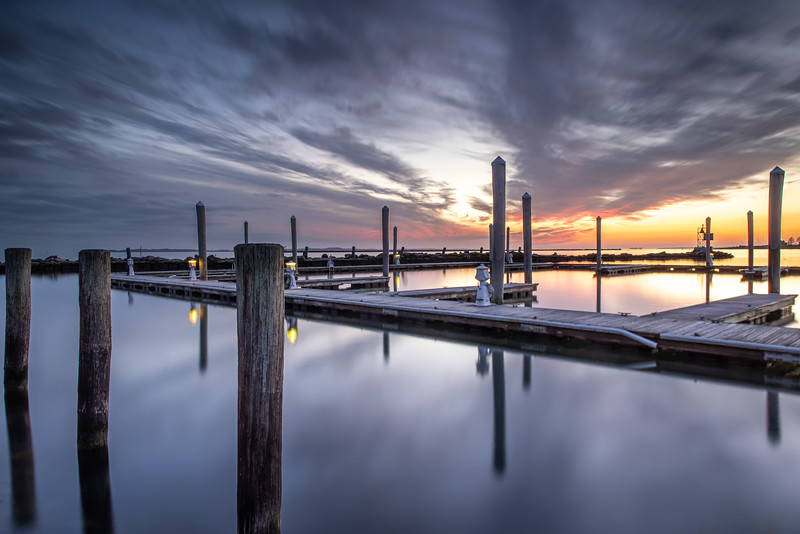 February Harbor Sunset