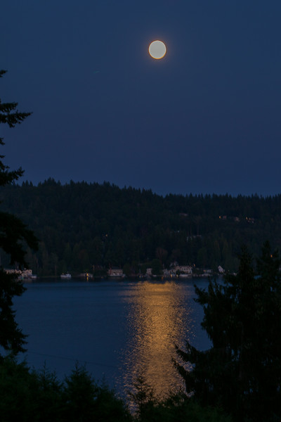 Moon Over the Lake