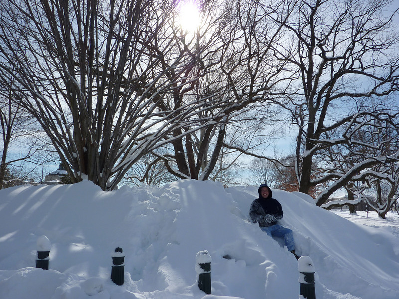 Steve in a snow drift