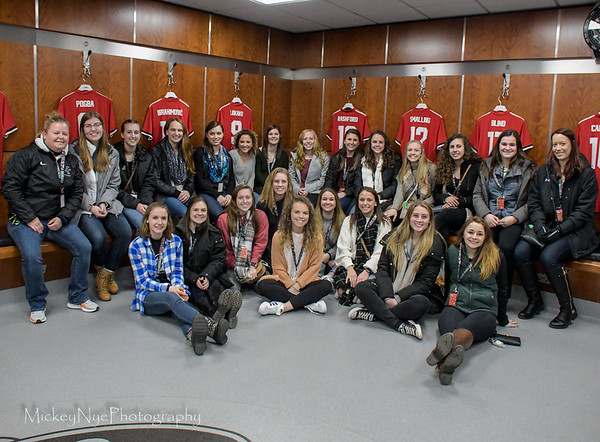 03-07-18 Etown at Manchester United  Pitch tour