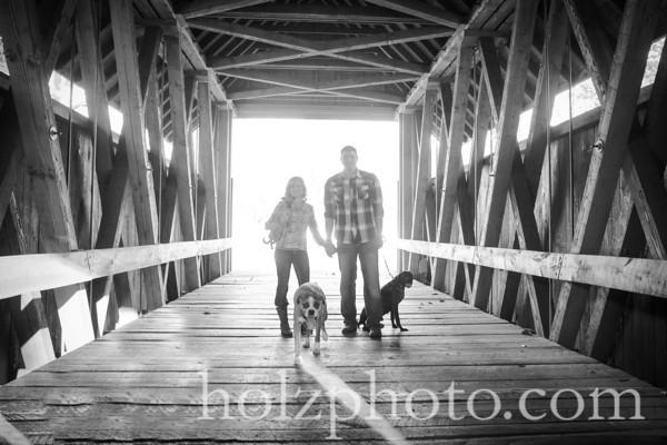 Noelle & Michael B/W Engagement Photos