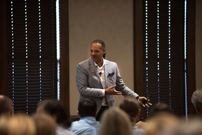 Phil Gwoke speaks at Belmont