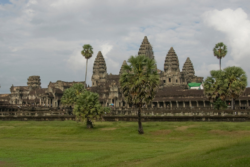 Landscape outside Angkor Wat complex in Cambodia