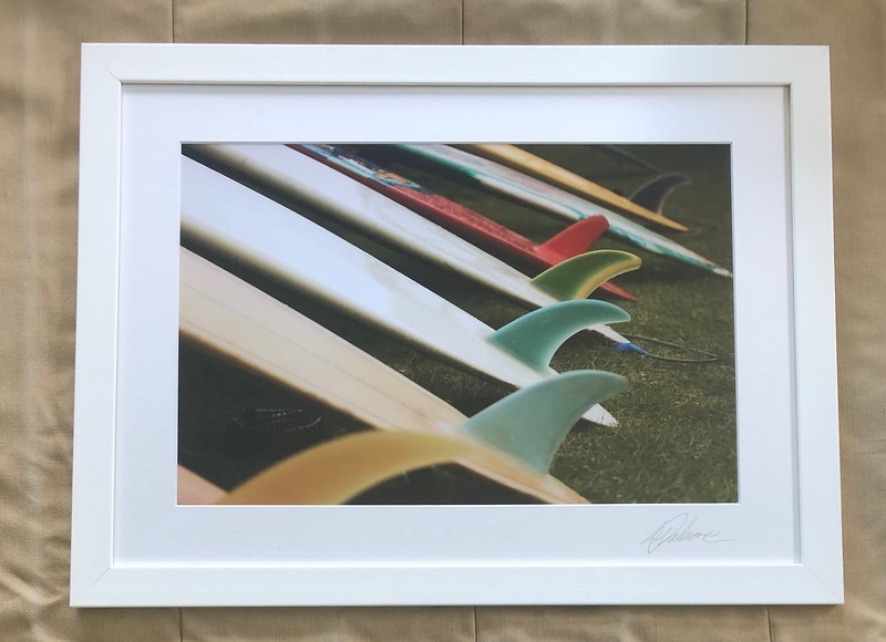 Single Fins, White frame 16X22 $190 NZD