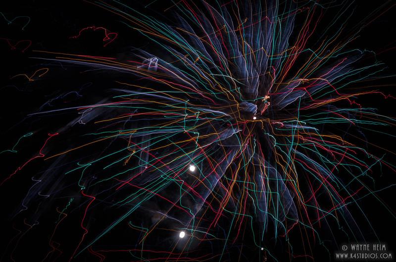Fireworks 1     Photography by Wayne Heim