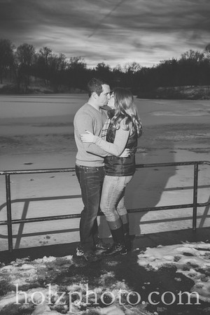 Mindy & Mitch Color & B/w Engagement Photos