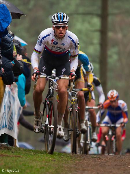 Zdenek Stybar wereldbekercross Heusden-Zolder 2012