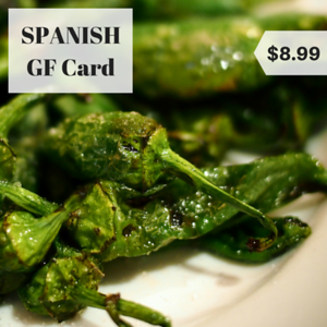 spain spanish gluten free restaurant card