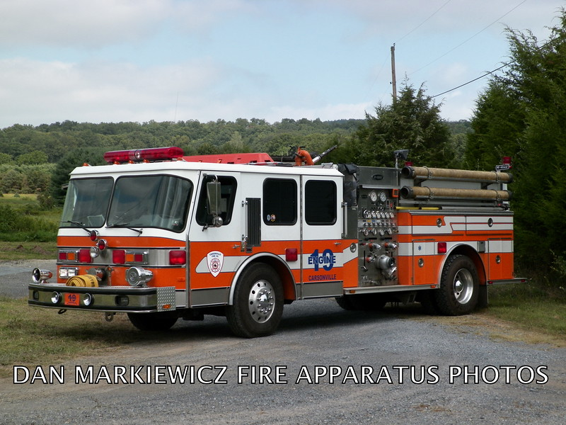 CARSONVILLE FIRE CO. ENGINE 19 1989 E-ONE PUMPER