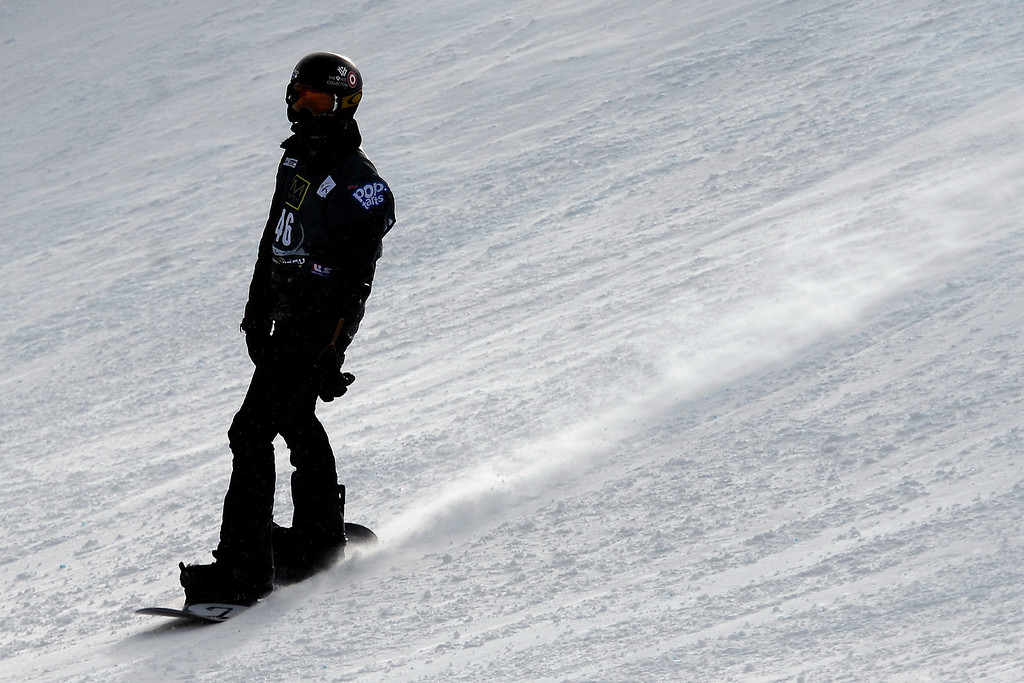 . Third place finisher Shaun White reacts to not completing his second run during the slopestyle finals of the Copper Mountain Grand Prix.  (Photo by AAron Ontiveroz/The Denver Post)