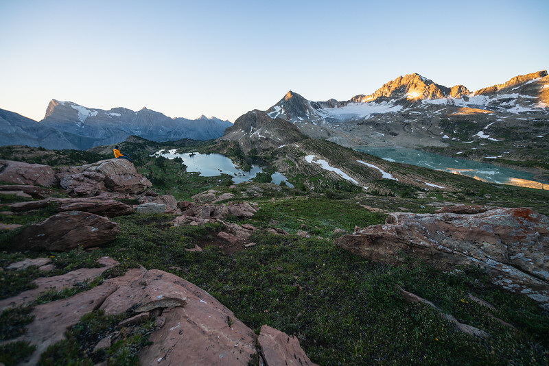Backpacking Limestone Lakes in Height of the Rockies