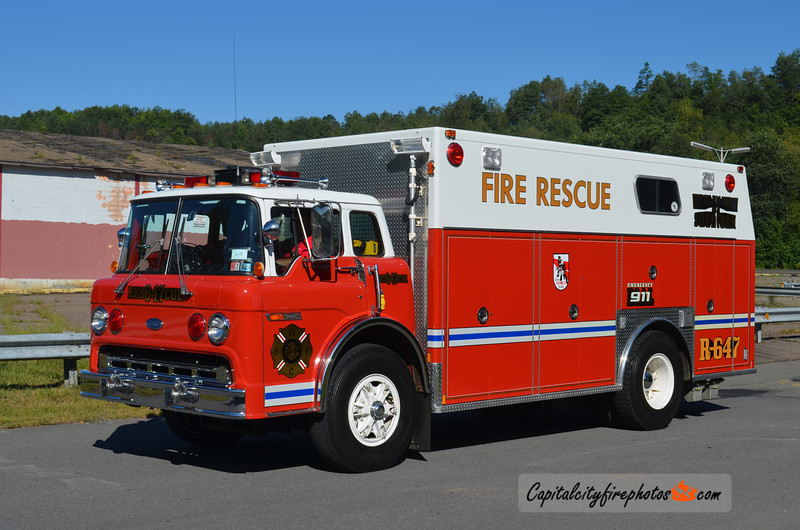 West End Fire Co., Sheridan (Porter Township) Rescue 647: 1990 Ford/Marion (X-Stillwater, NY)