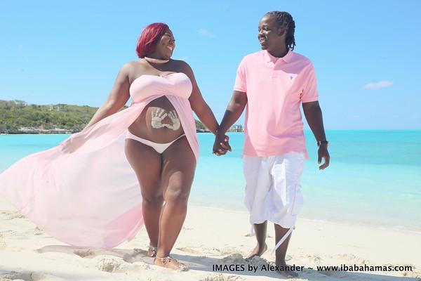 Antanique's Maternity Session | Jolly Hall, Exuma, Bahamas