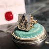 'Pineapple Family Crest' Chalcedony Ring, by Seal & Scribe 27