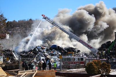 Scrapyard Fire - 225 East Aurora St. Waterbury, CT - 2/25/2020