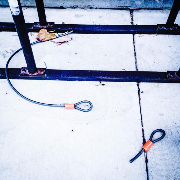 Bike thieves s**k. (Wasn't mine.)