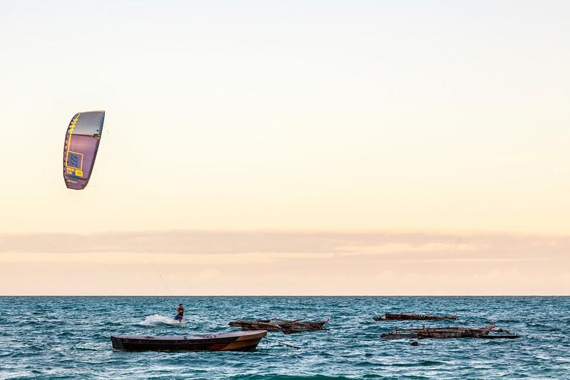Kite Surfing in Zanzibar