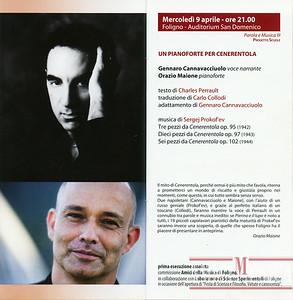 2014/04/09 UN PIANOFORTE per CENERENTOLA