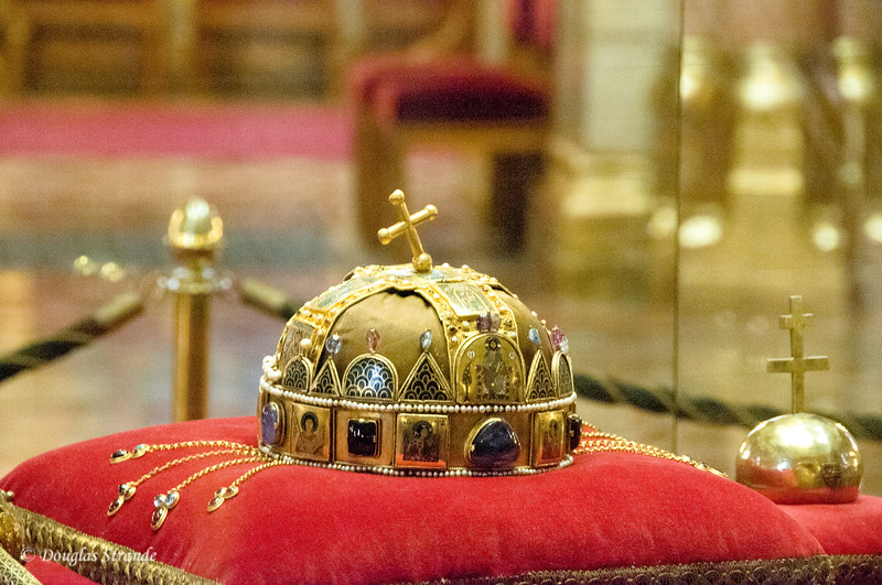 Hungarian Parliament in Budapest:  Royal Crown