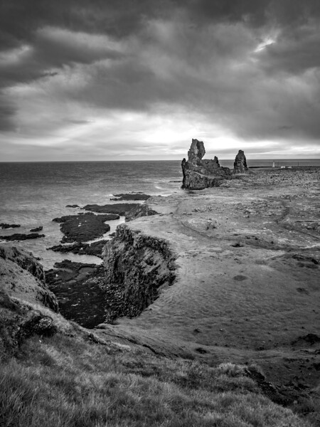 Rough Coastline in Iceland  Black and White Photography by Wayne Heim