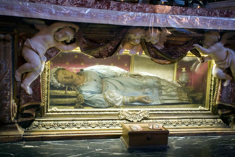 Santa Vittoria, Roman virgin and martyr, Santa Maria della Vittoria church, Rome