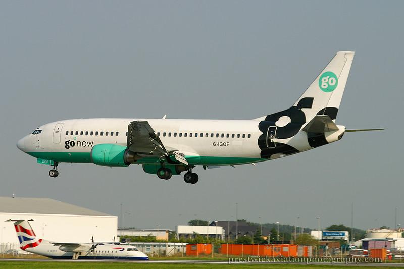 G-IGOF. Boeing 737-3Y0. Go Fly. Glasgow. 080803.
