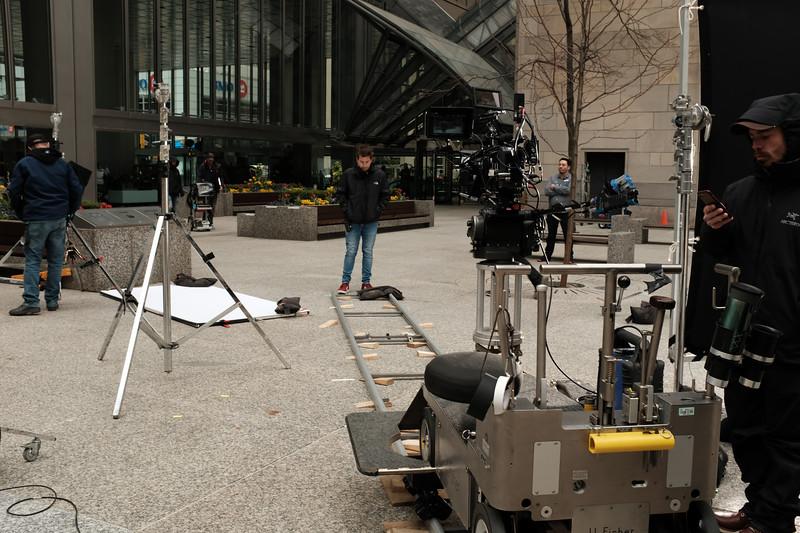 Film Crew In Commerce Court
