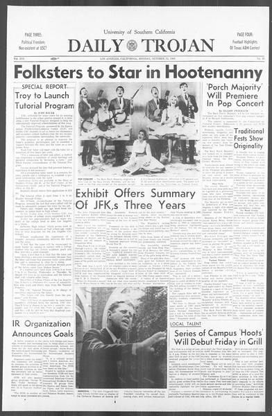 Daily Trojan, Vol. 56, No. 16, October 12, 1964