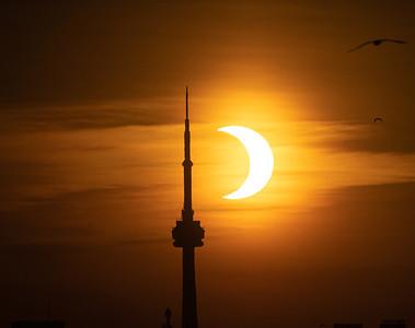 Partial Solar Eclipse. June 10, 2021