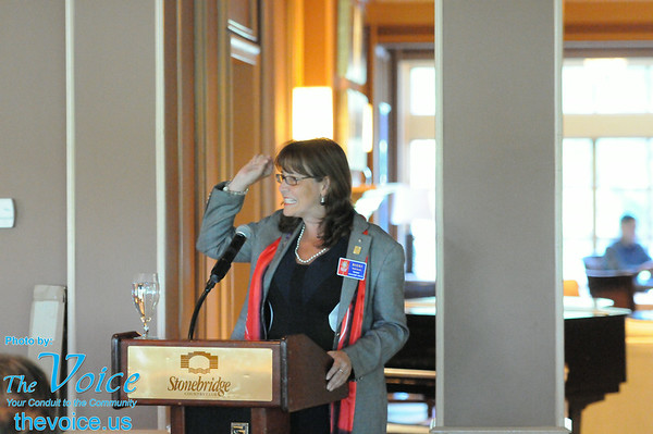 Rotary District Governor Nicki Scott visit and officer installation at Stonebridge Country Club in Aurora, Ill 7-9-14