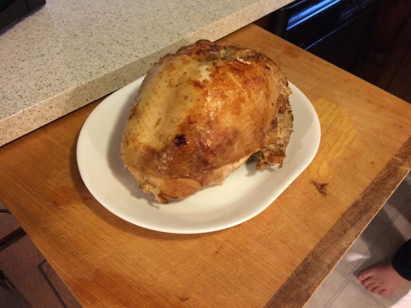 The turkey (well, turkey breast)