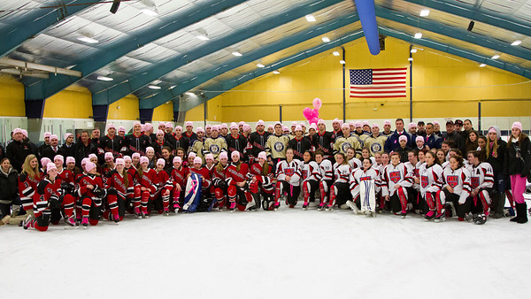 Pink the Rink Ceremony 01-12-13