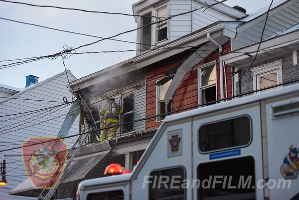 Schuylkill County - Mahanoy City - 2 Alarm House Fire - 02/02/2018
