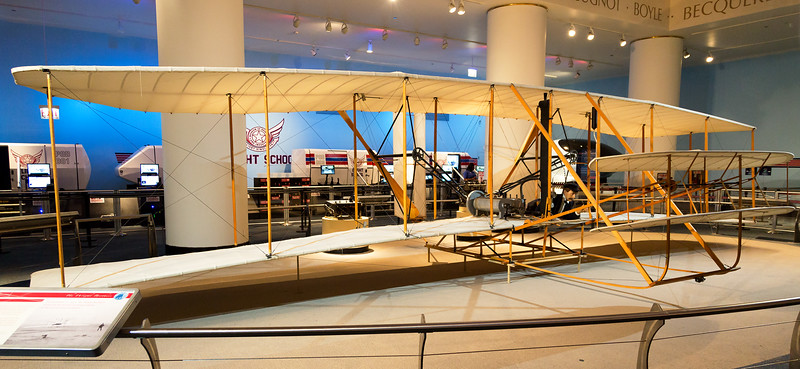 Replica of the 1903 Wright Brothers aeroplane