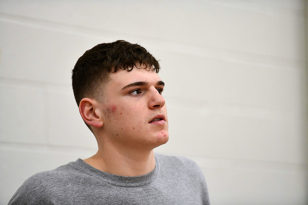 3/7/2020 Mike Orazzi   StaffrBristol Central High School's Donovan Clingan during practice on Saturday.