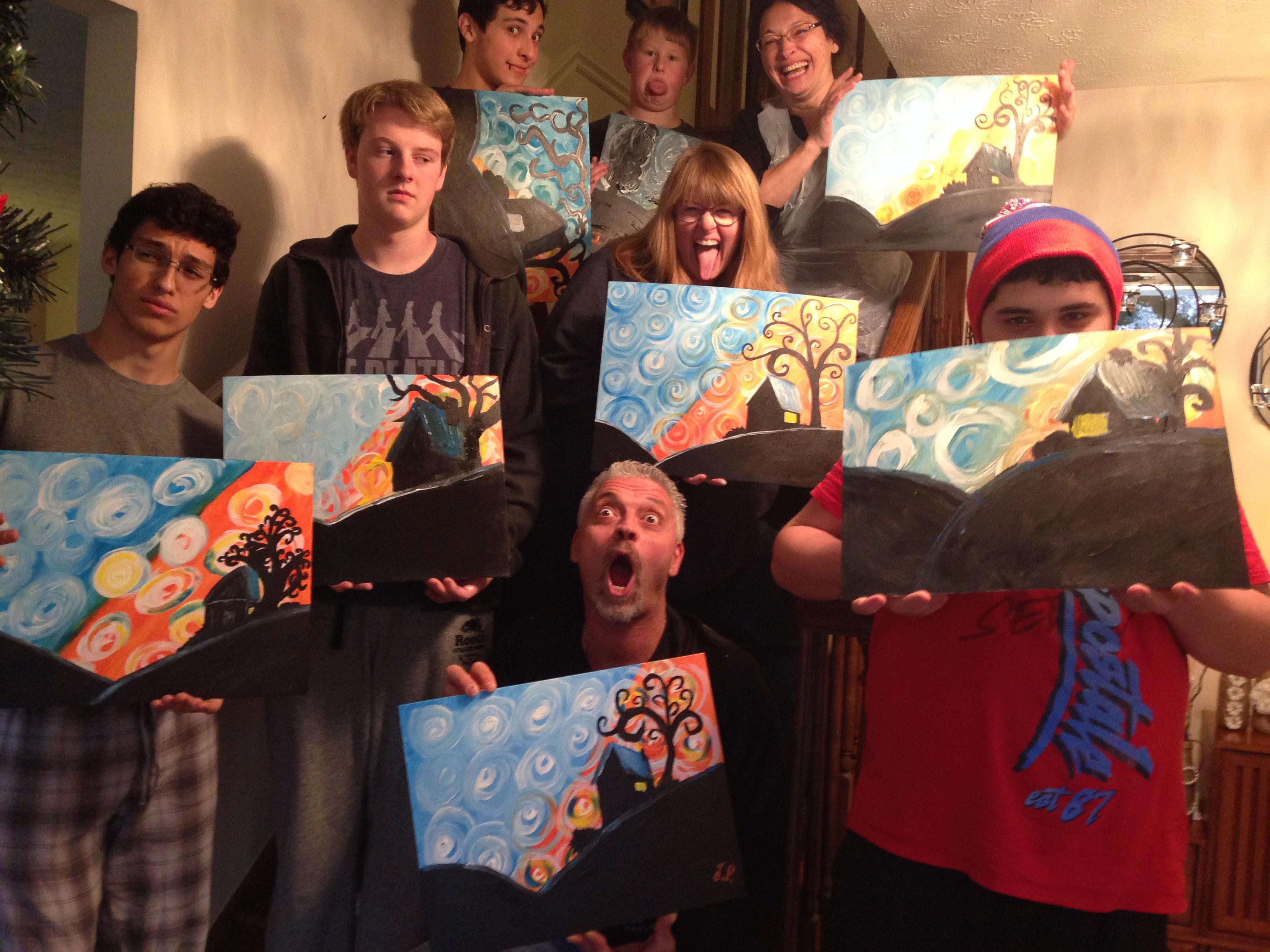 Joanne Harris' Painting Party 11-28-2015
