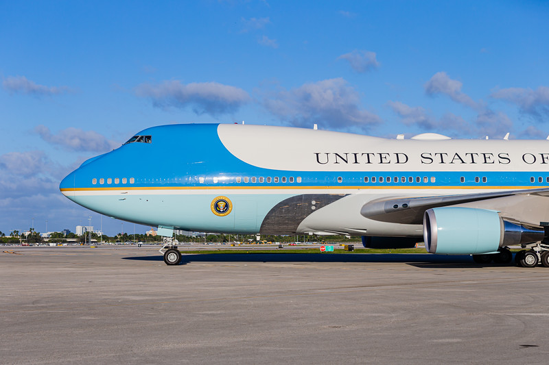 President Donald J. Trump spends the last two days of the Christmas Holiday at Trump International Golf Club in West Palm Beach, before flying out on Air Force One from Palm Beach International Airport. [Joseph Forzano / Deep Creek Films]