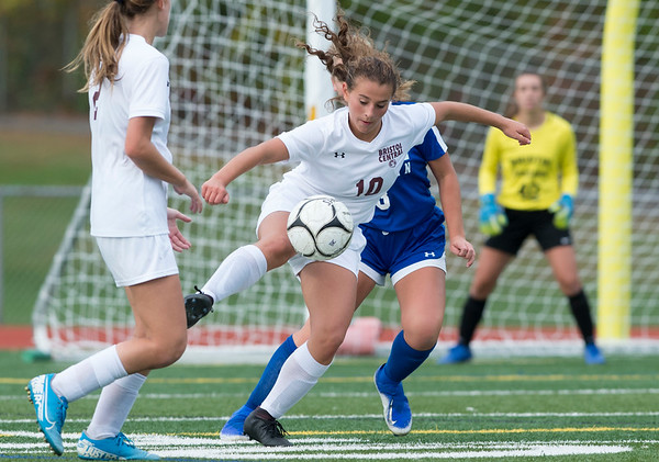 10/08/19 Wesley Bunnell | StaffrrBristol Central girls soccer defeated Bristol Eastern 1-0 at Bristol Eastern High School on Tuesday afternoon. Bristol Central's Bella Bosco (10).