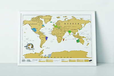World Scratch Map | Top Gifts for Travelers