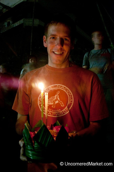 Dan with Our Krathong - Loi Krathong Festival, Bangkok