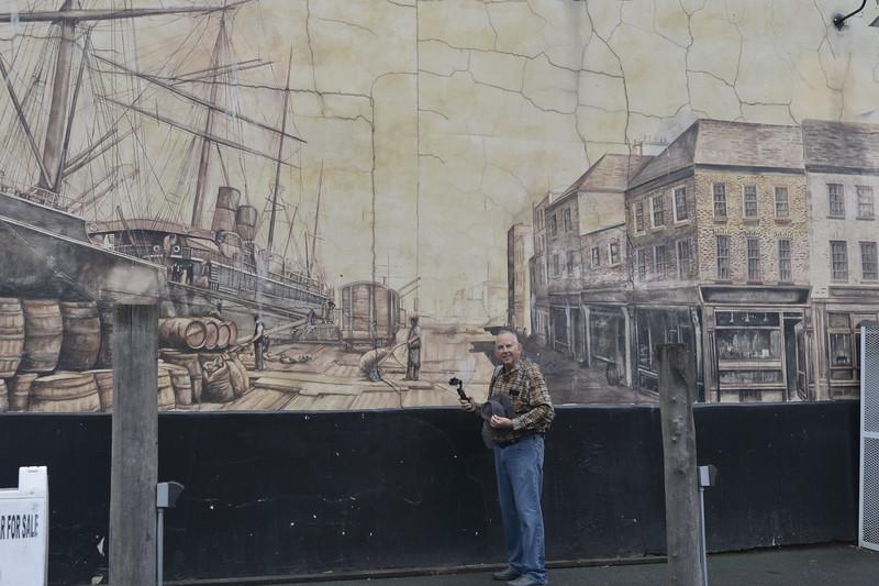 Portland Maine Harbor Mural