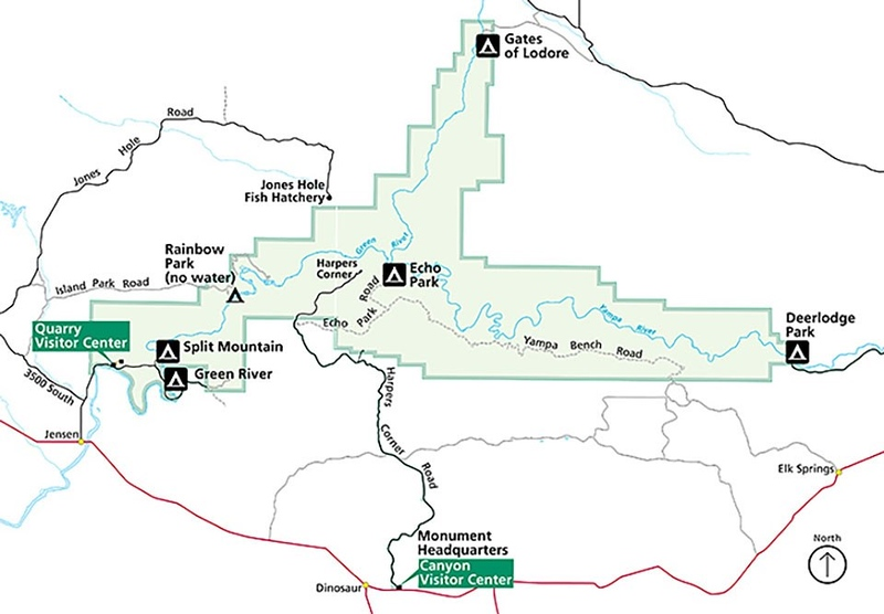 Dinosaur National Monument (Campgrounds Map)