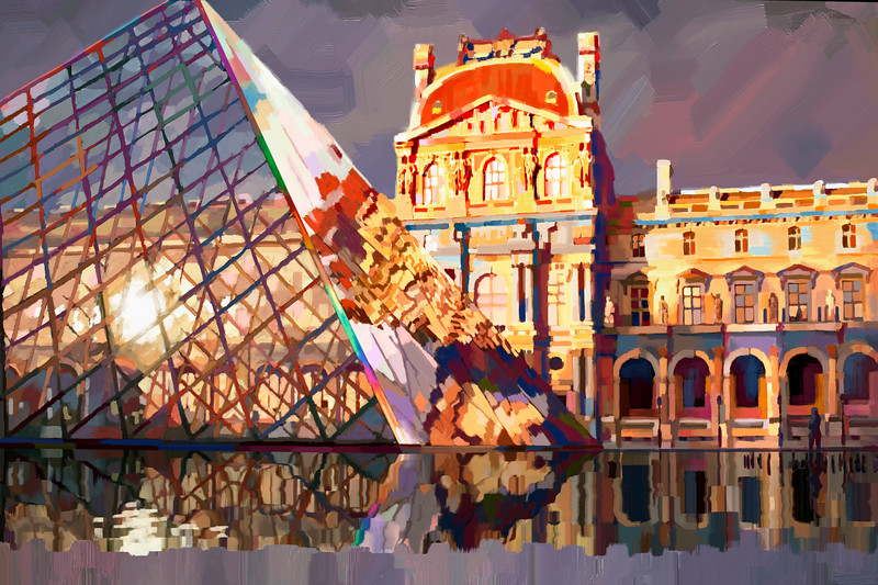 Paris Louve Museam - Dgital painting