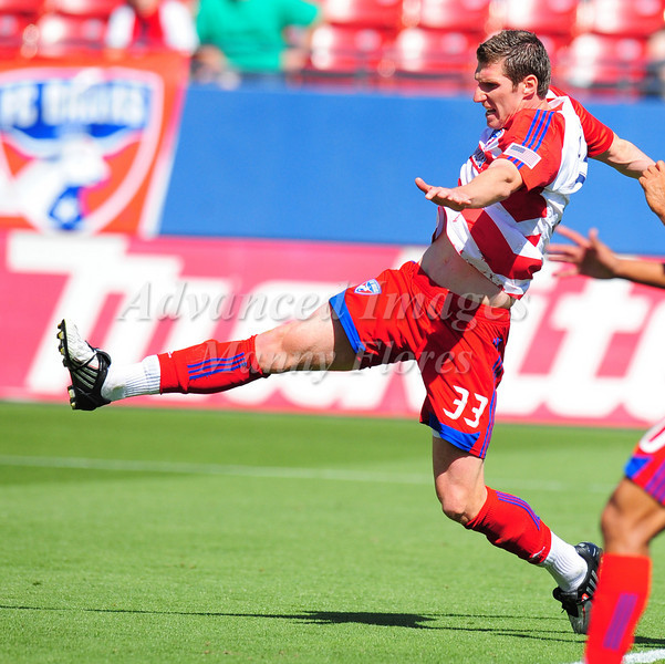 29, March 2009:  FC Dallas forward Kenny Cooper #33in action during the soccer game between FC Dallas & Chivas USA at the Pizza Hut Stadium in Frisco,TX. Chivas USA  beat FC Dallas 2-0.Manny Flores/Icon SMI