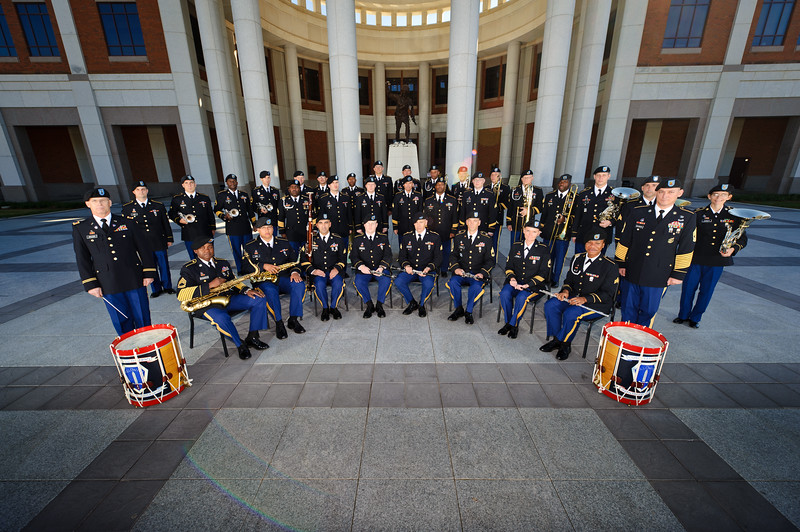 17 NOV 2010 - MCoE Band, group photo in front of the National Infantry Museum, Fort Benning, GA.  Photo by John D. Helms