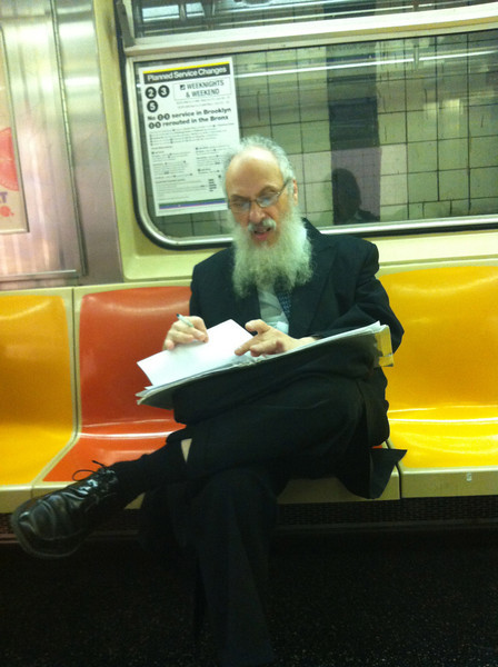 A man on the subway