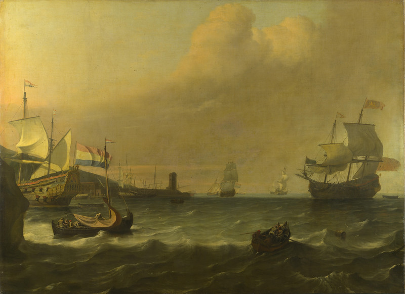 Dutch Men-of-war entering a Mediterranean Port