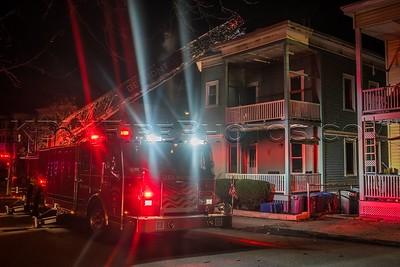 3 Alarm Structure Fire - 50-52 Grove St, Belmont MA - 2/26/17