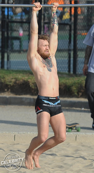 Conor McGregor Performs Incredible Balance Training On Venice Beach, California