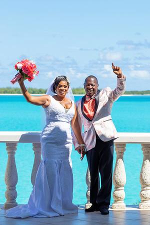 Queden and Alicia's Wedding, Exuma. Bahamas
